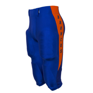 custom football pants with team name down the side