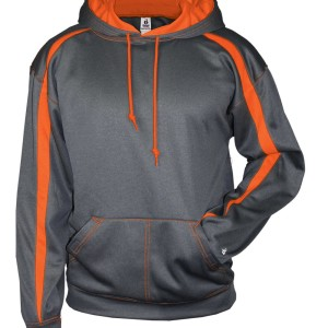 custom grey orange hoodie