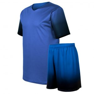 custom blue soccer uniform with gradient