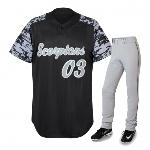 Black Jersey white pant baseball