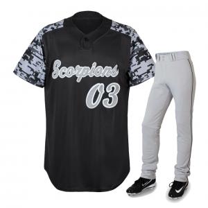 Black Jersey white pant baseball