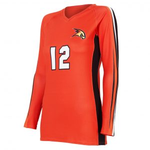 custom orange volleyball jersey