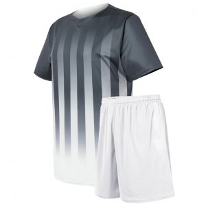 custom vertical stripes soccer unform