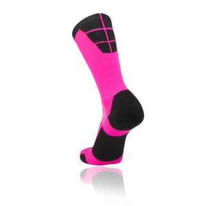 custom black pink sock