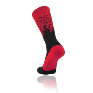 custom red black socks