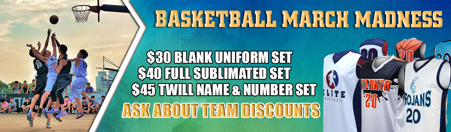 Basketball Uniforms - 2 Full Sublimated Sets