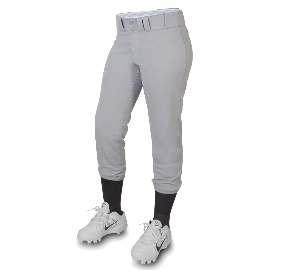 custom silver grey softball pant