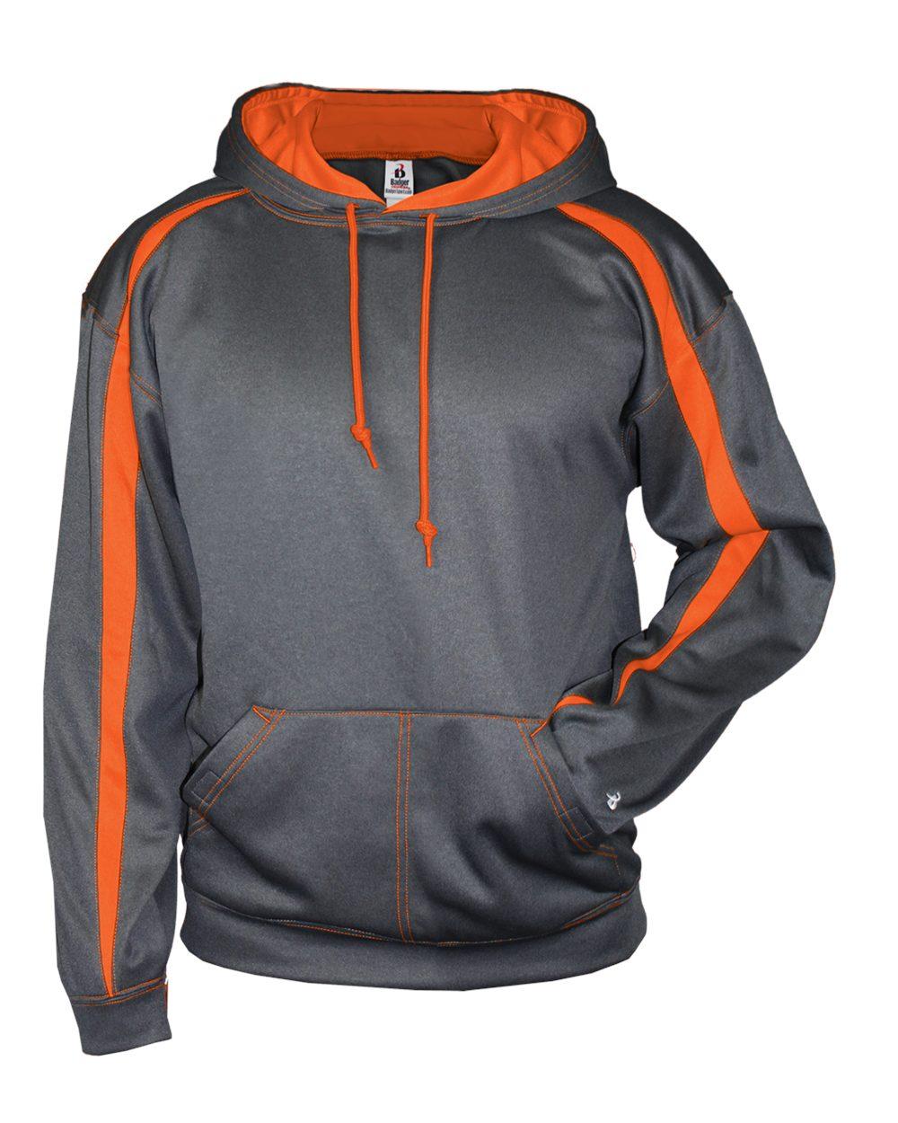 custom grey orange hoodie