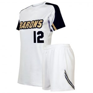 custom white soccer uniform