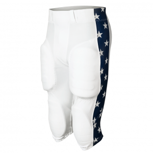 White American Stars football pants design
