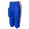 Blue football pants with side trim