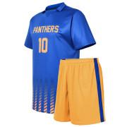 custom blue and yellow soccer unform