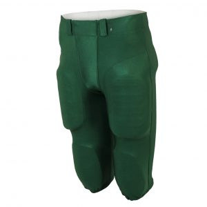Custom football pants in green