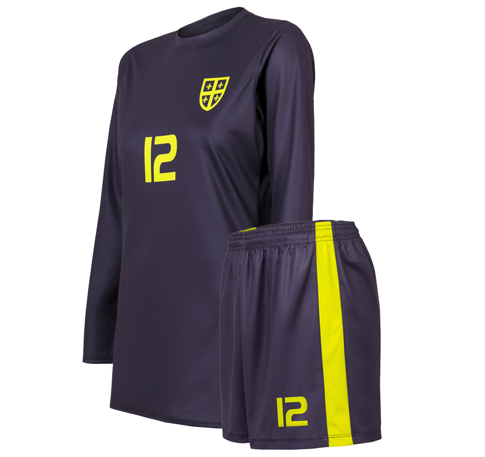custom dark soccer uniform