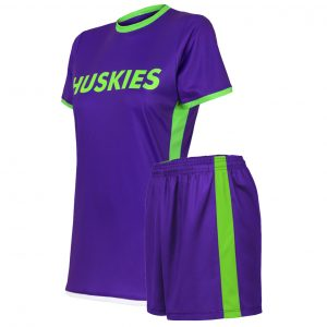 custom purple soccer uniform