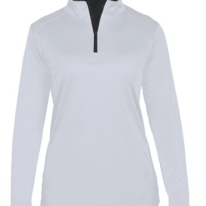 Womens quarter zip white