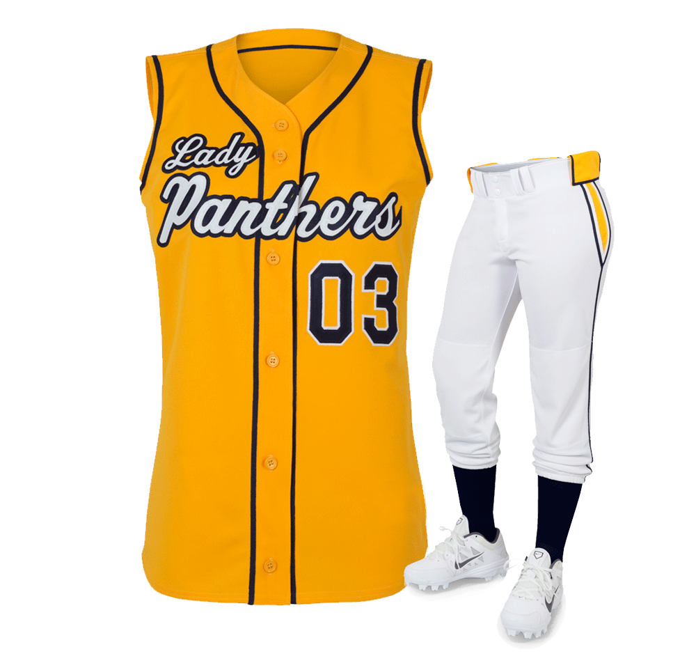 new arrivals a8ea2 36c48 Custom Softball vest team uniforms with pants