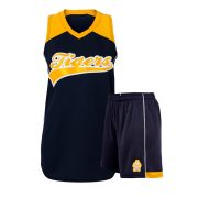 Black and Yellow Softball Uniform