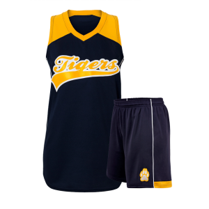 Black and Yellow Softball Uniform