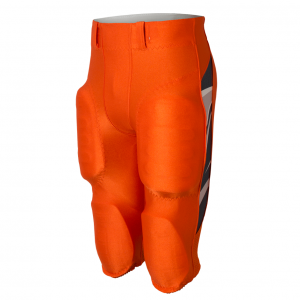 Bright orange football pants with side trim