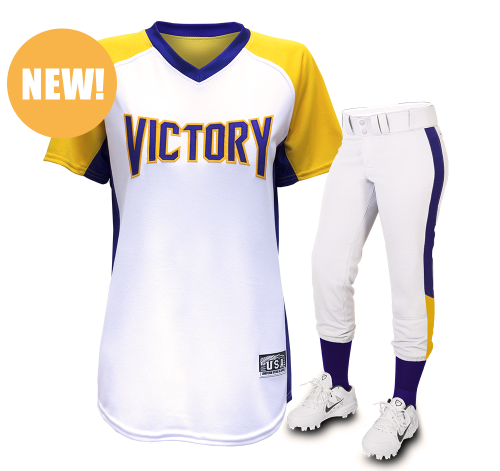 Victory jersey victory pants set uniform store for Softball uniform design templates