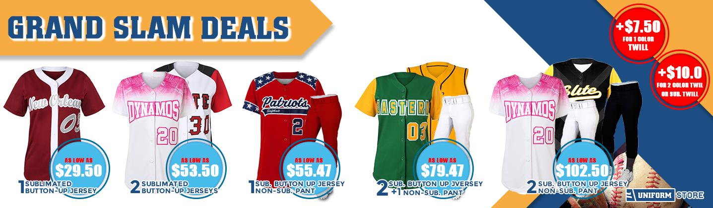 Softball jersey and uniform promo