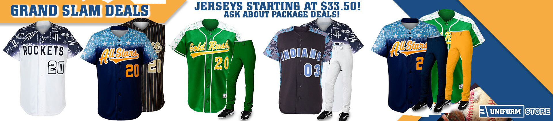 Custom Baseball Uniform Promotion